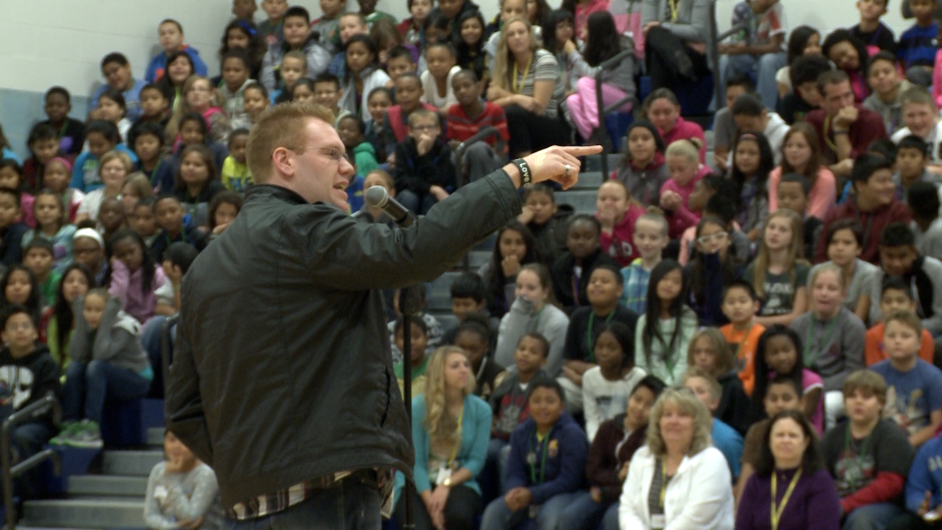 Jeff Veley middle school assembly