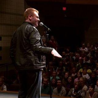 Jeff Veley onstage auditorium